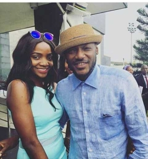 Singer Simi Poses With 'The Legend' 2Baba